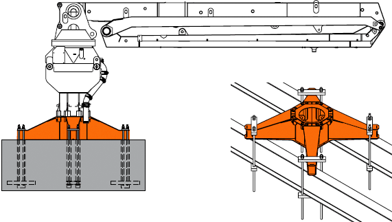 Schwing Zero Elevation Placing Boom Mounting Option